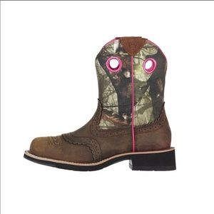 Ariat Fatbaby Cowgirl Camo Western Boot